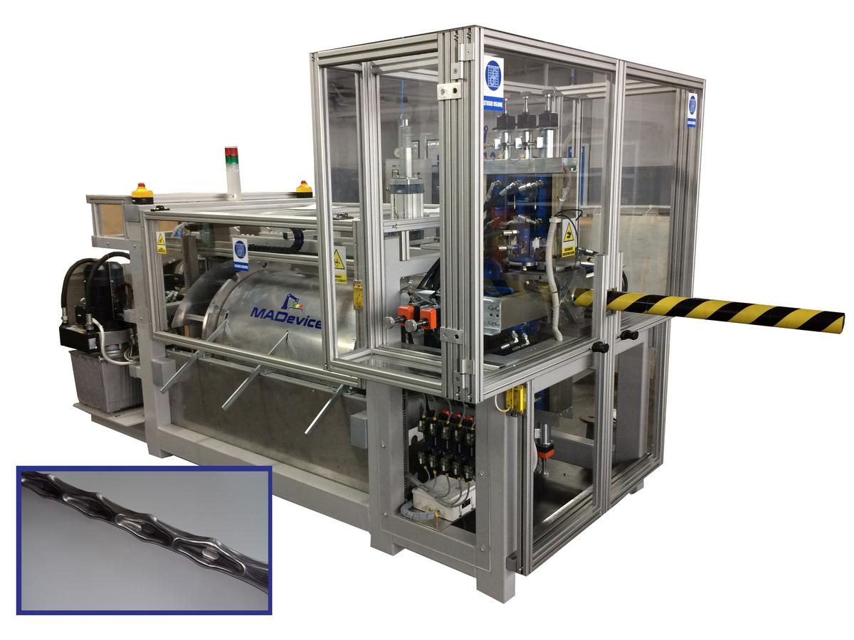 automat nagniatania metalowych rur